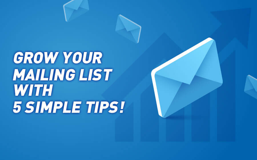 Grow your casino's mailing list with these 5 simple tips