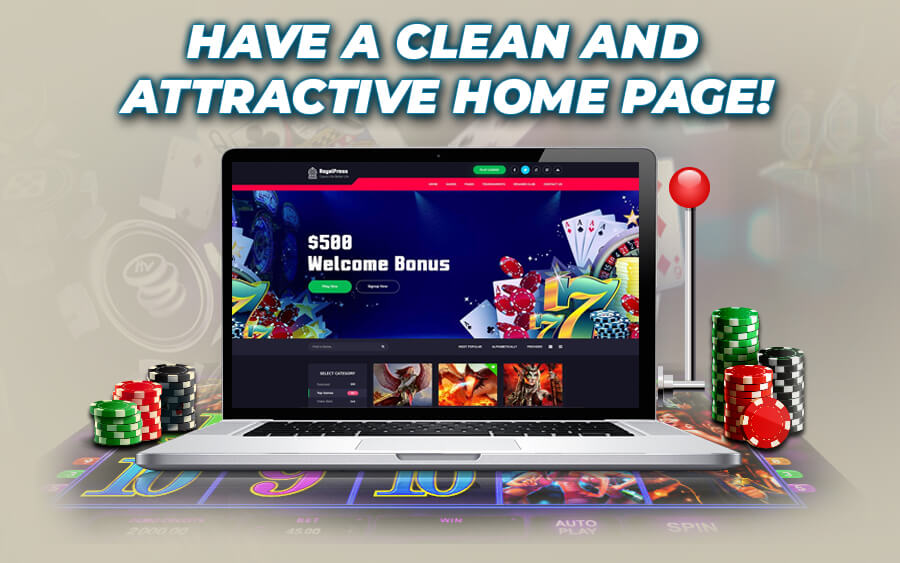 Have a clean and attractive Online Casino Website - GamingSoft News