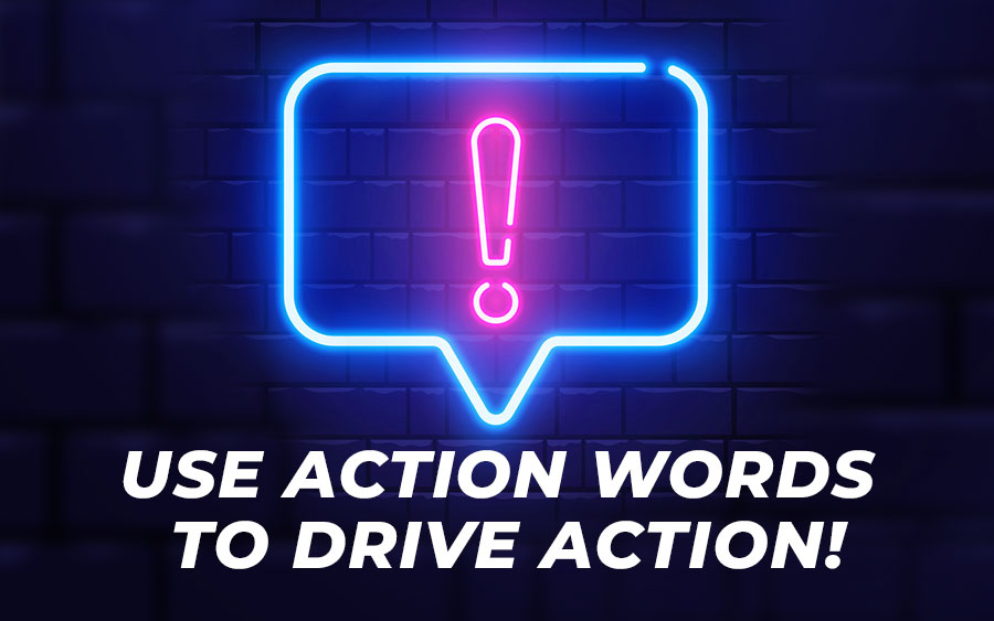 Use action words to make conversion for your online casino - GamingSoft News