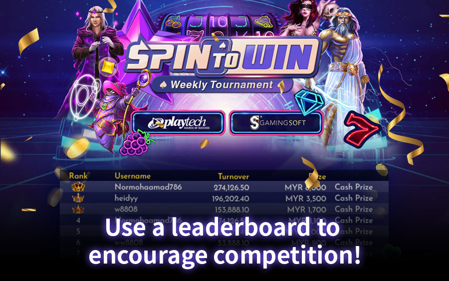 Use a leaderboard to encourage slot game competition - GamingSoft News
